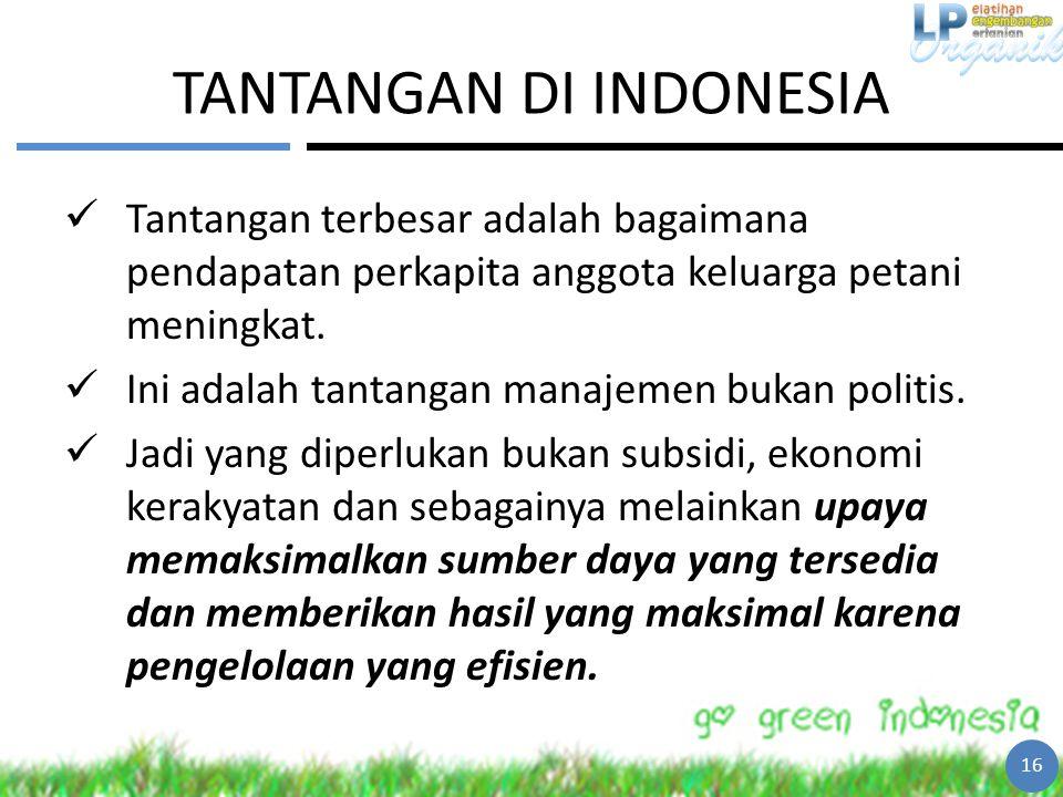 TANTANGAN DI INDONESIA