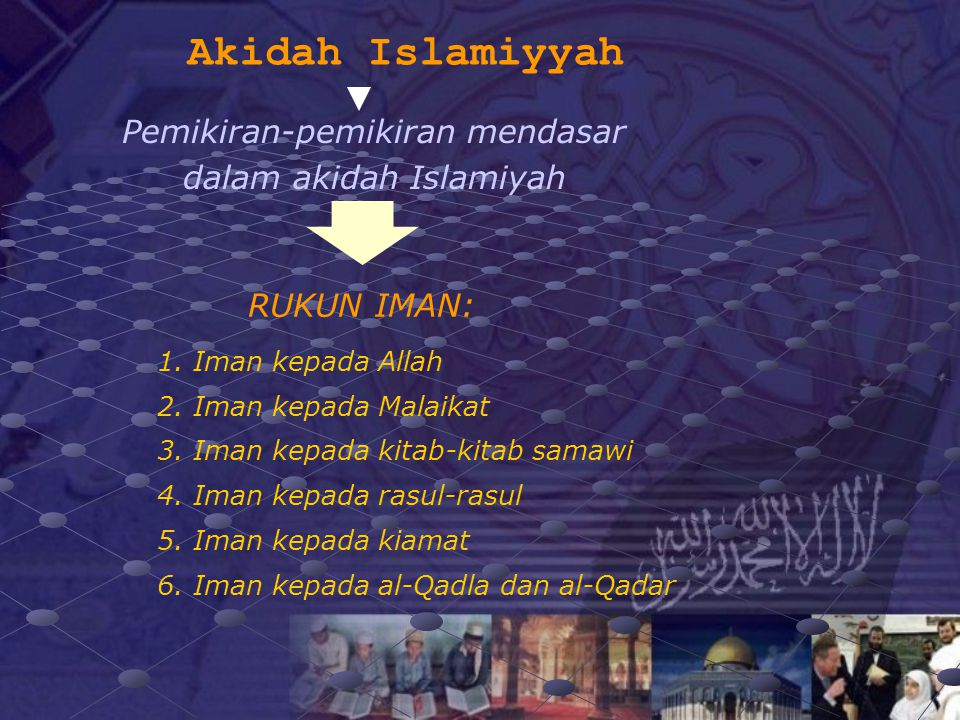Pemikiran-pemikiran mendasar dalam akidah Islamiyah