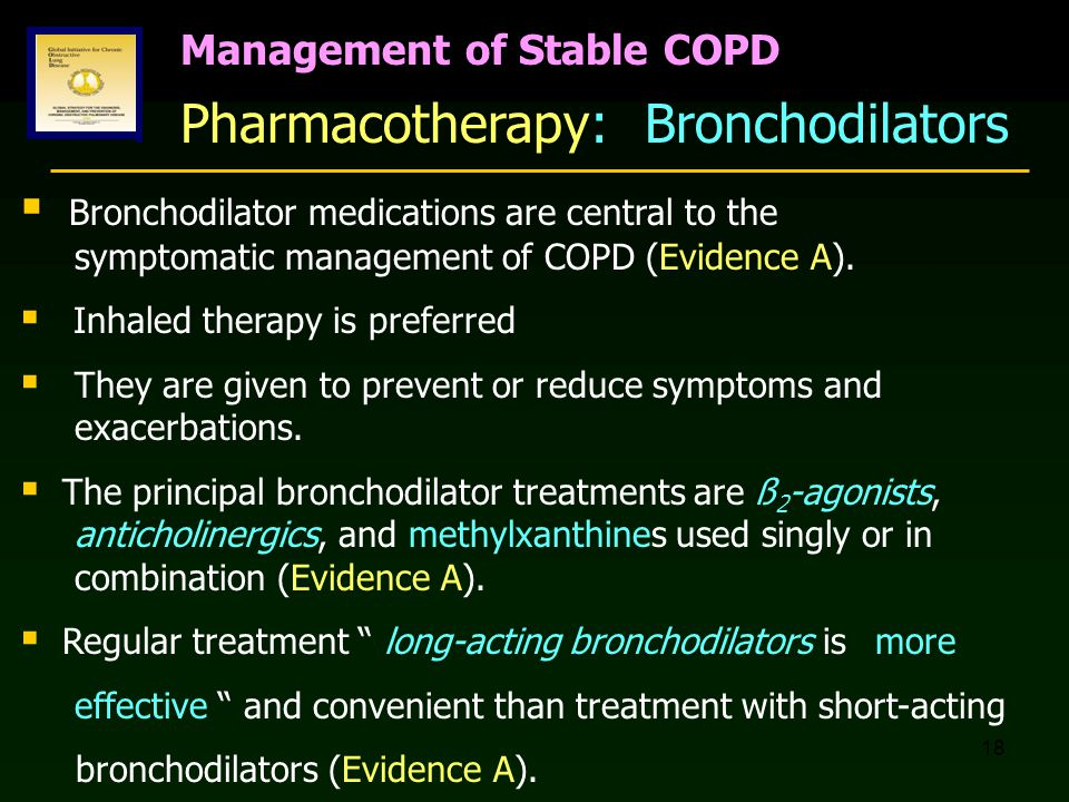 Pharmacotherapy: Bronchodilators