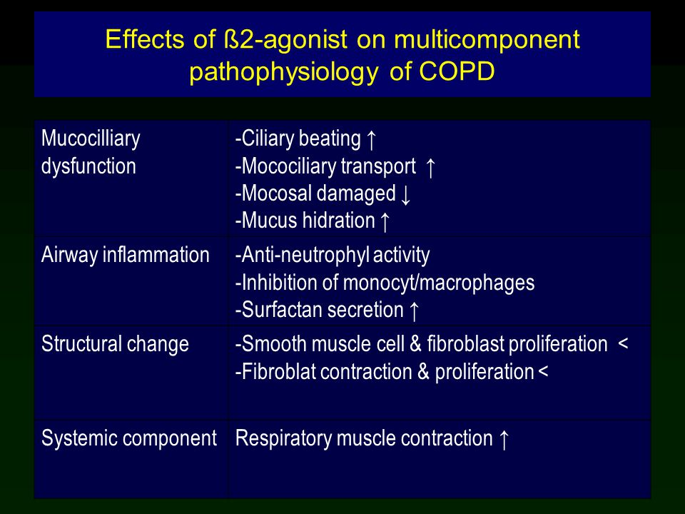 Effects of ß2-agonist on multicomponent pathophysiology of COPD