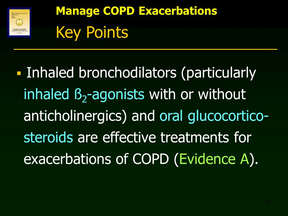 Key Points Manage COPD Exacerbations