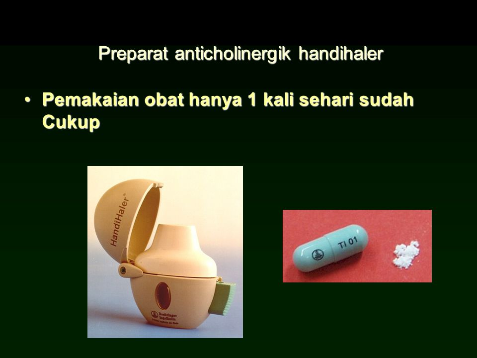 Preparat anticholinergik handihaler