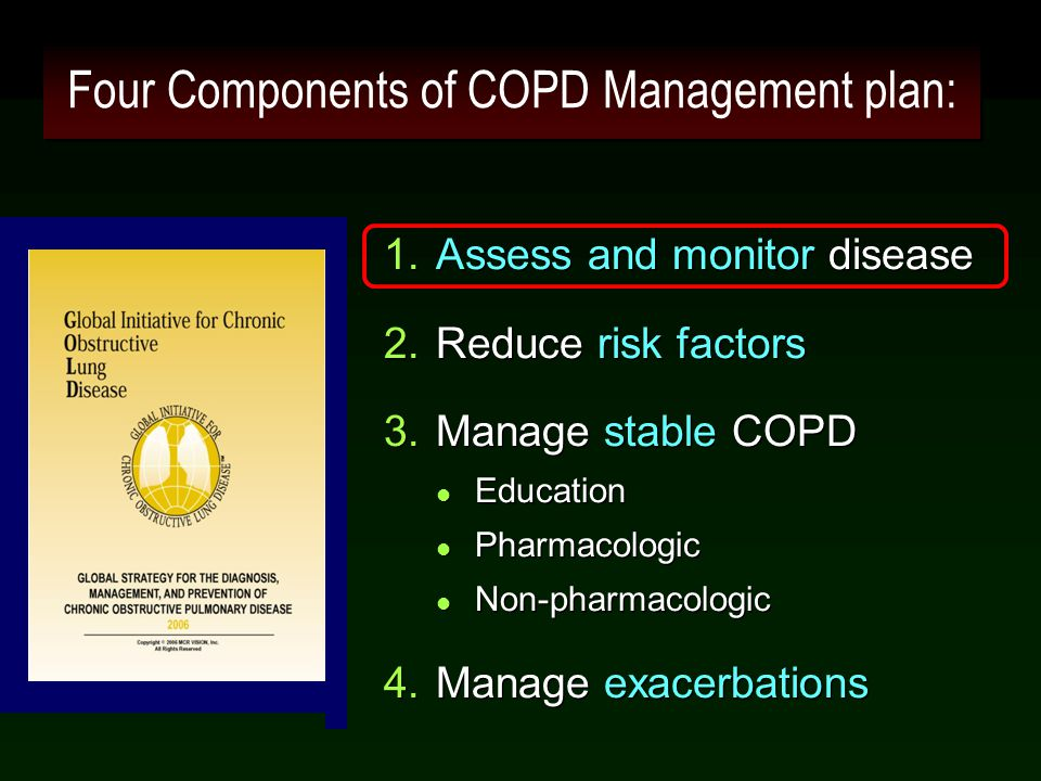 Four Components of COPD Management plan: