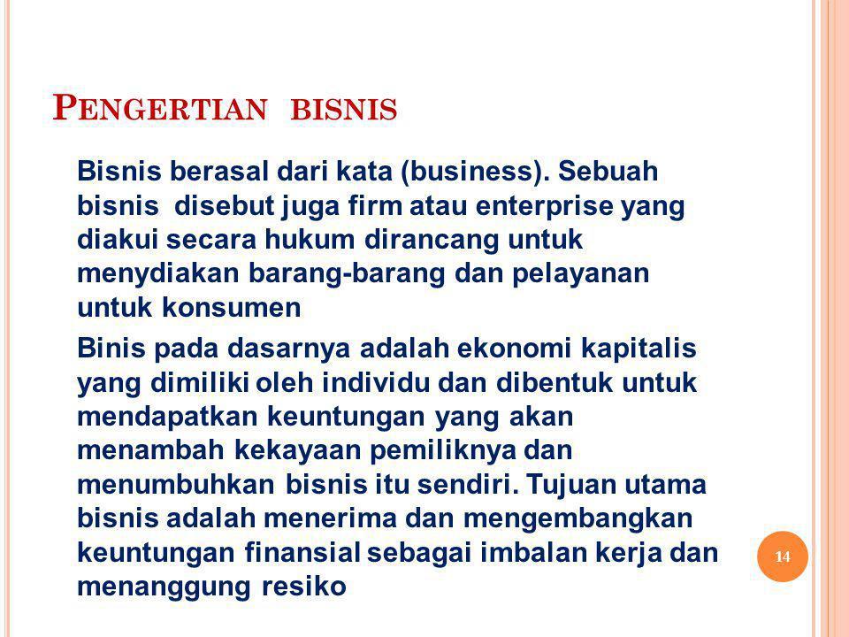 Pengertian bisnis