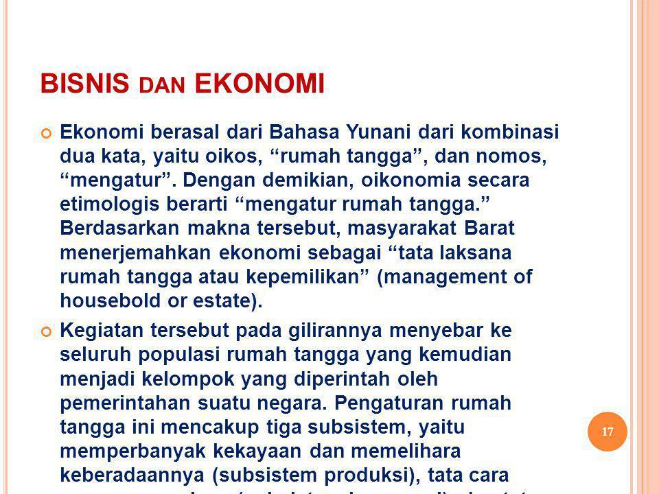 BISNIS dan EKONOMI
