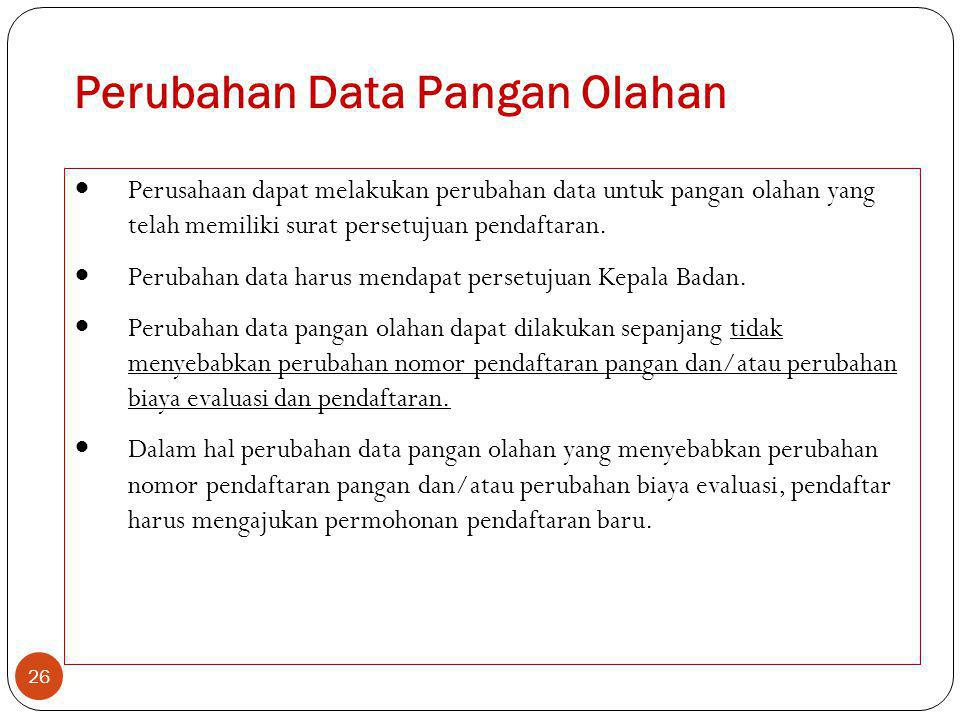 Perubahan Data Pangan Olahan