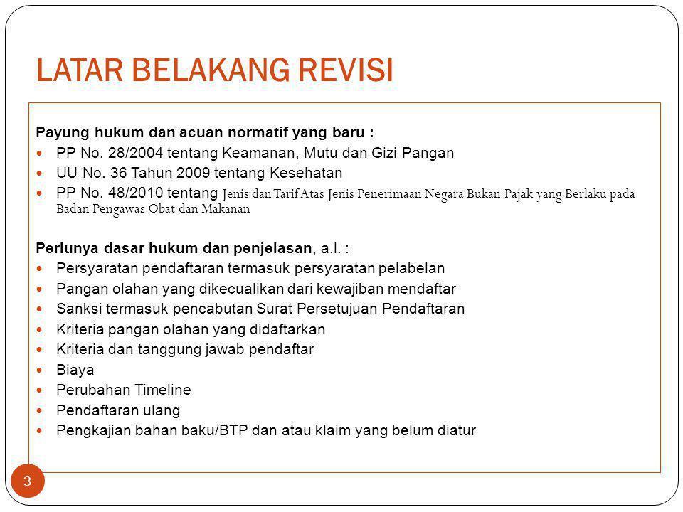 LATAR BELAKANG REVISI Payung hukum dan acuan normatif yang baru :