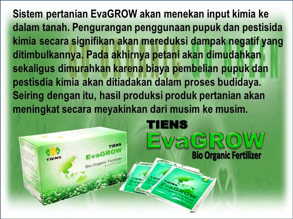 Sistem pertanian EvaGROW akan menekan input kimia ke dalam tanah