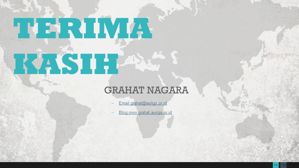 TERIMA KASIH Grahat Nagara Email grahat@auriga.or.id