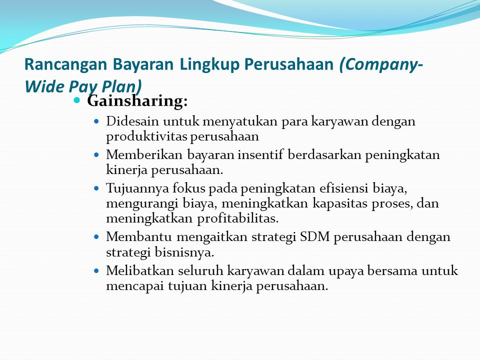 Rancangan Bayaran Lingkup Perusahaan (Company-Wide Pay Plan)