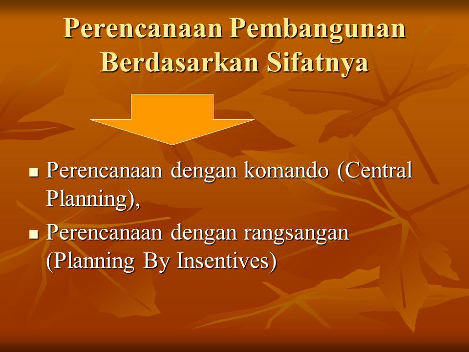 Perencanaan Pembangunan Berdasarkan Sifatnya