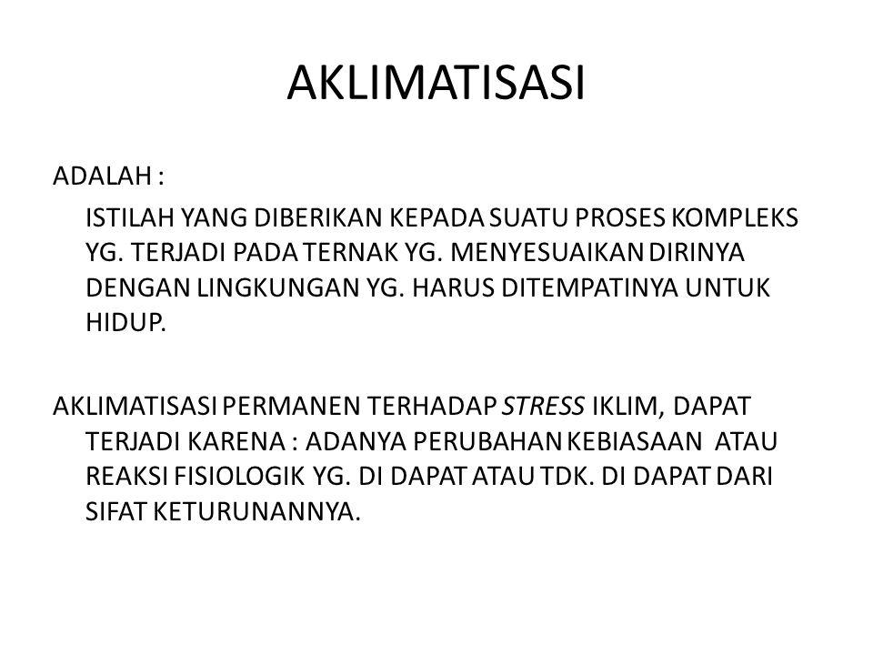 AKLIMATISASI ADALAH :