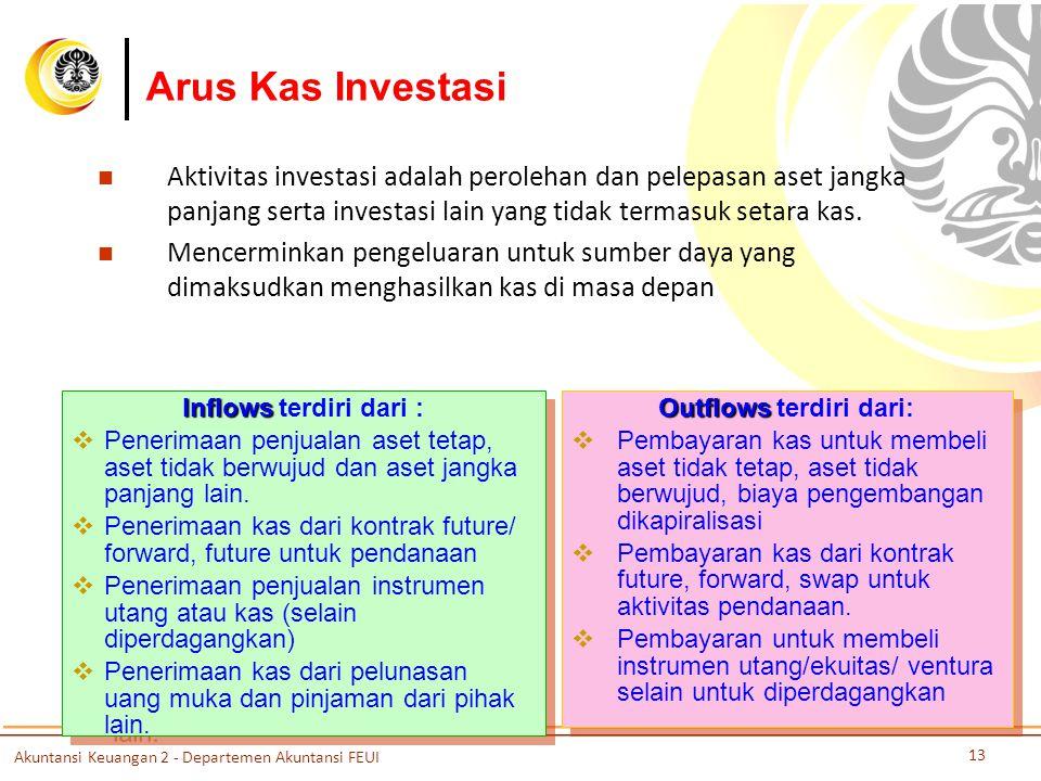 Outflows terdiri dari: