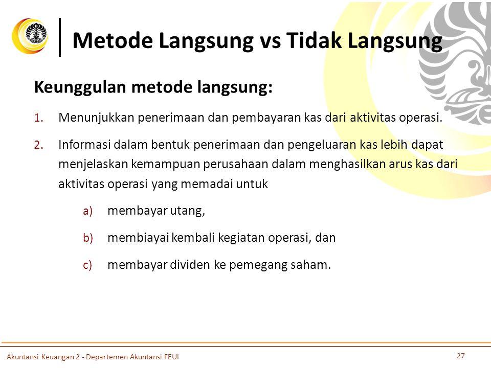 Metode Langsung vs Tidak Langsung