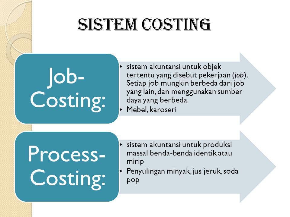 SISTEM COSTING Job-Costing: