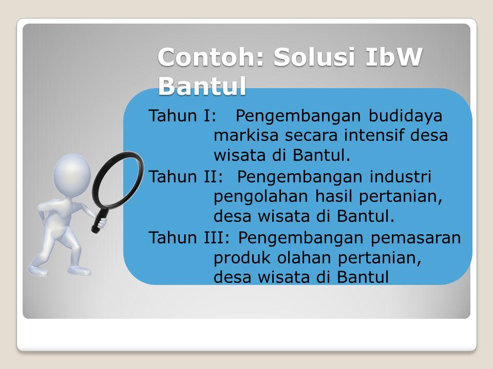 Contoh: Solusi IbW Bantul