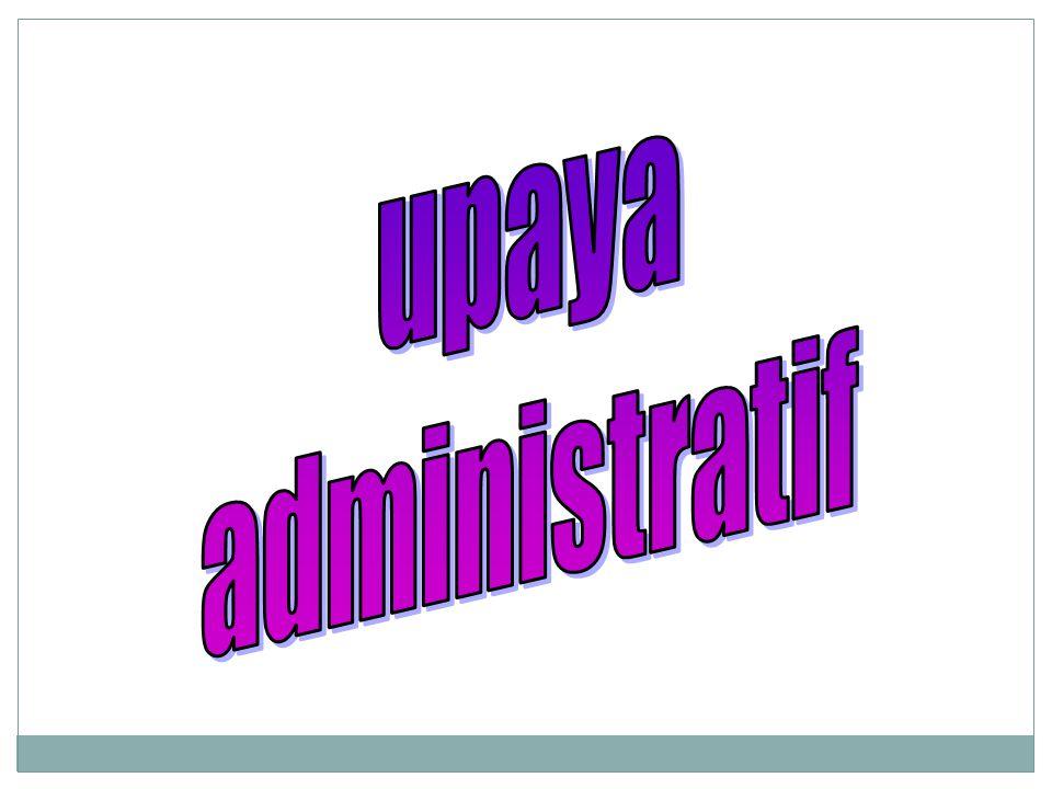 upaya administratif