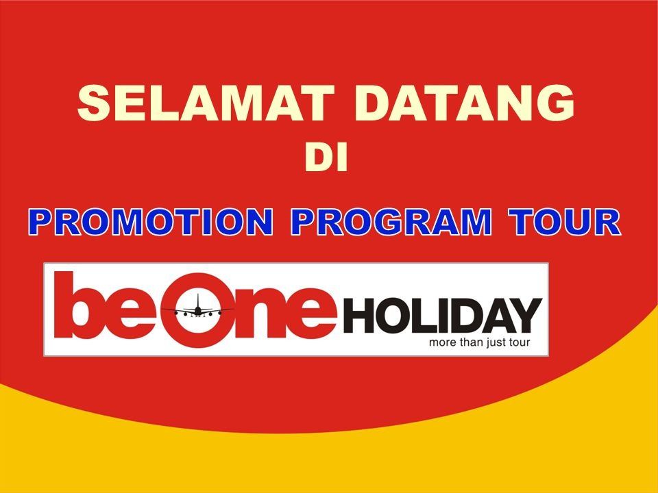 PROMOTION PROGRAM TOUR
