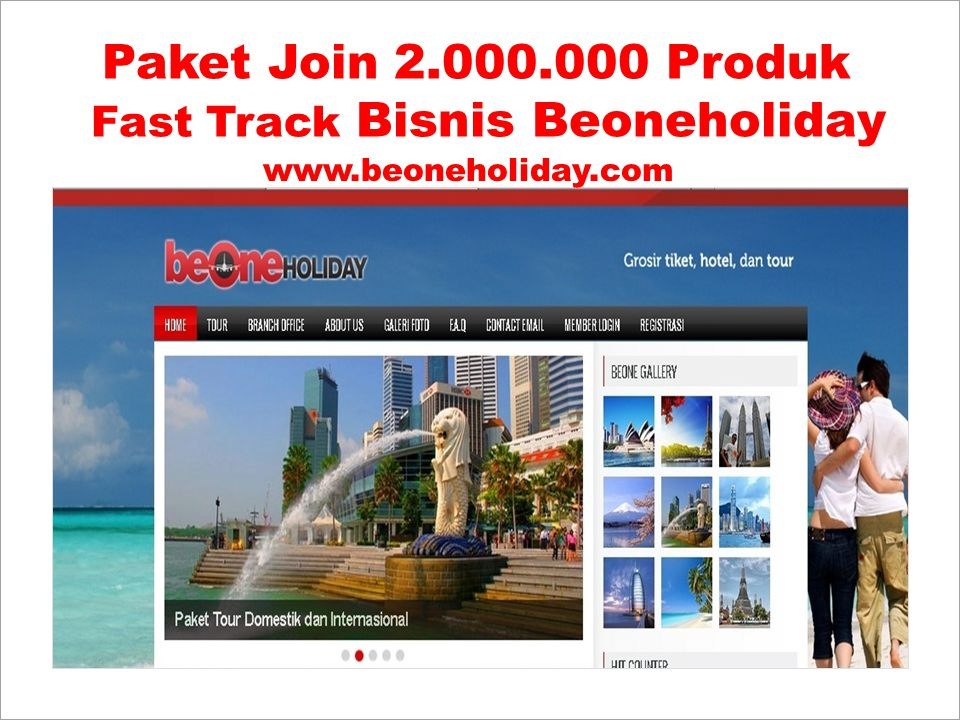 Paket Join 2.000.000 Produk Fast Track Bisnis Beoneholiday
