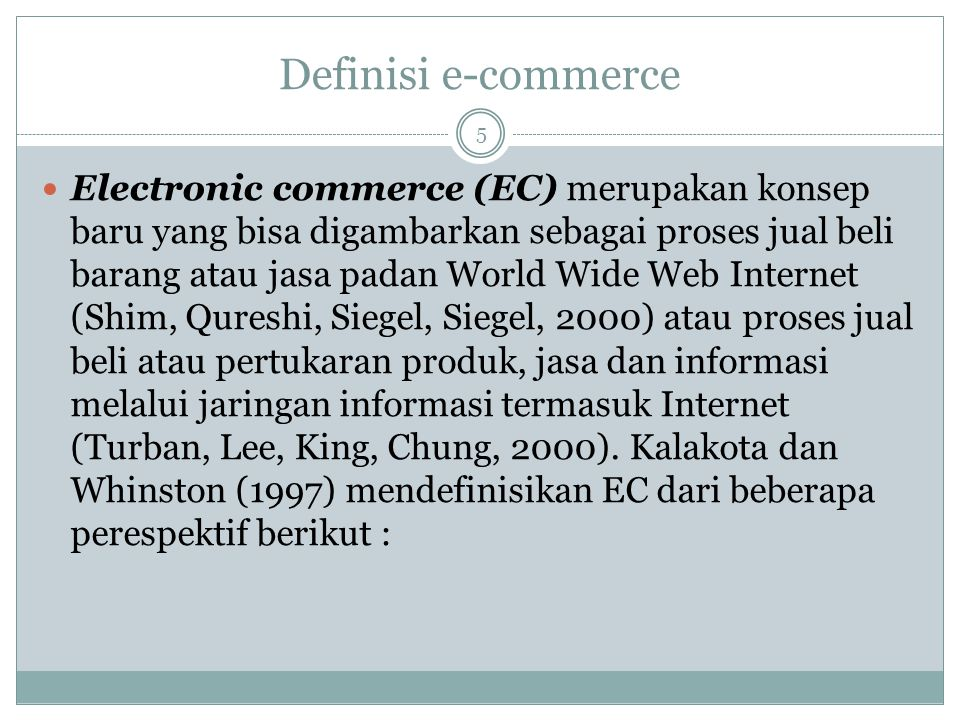 Definisi e-commerce