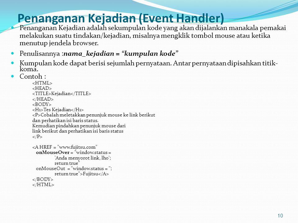 Penanganan Kejadian (Event Handler)