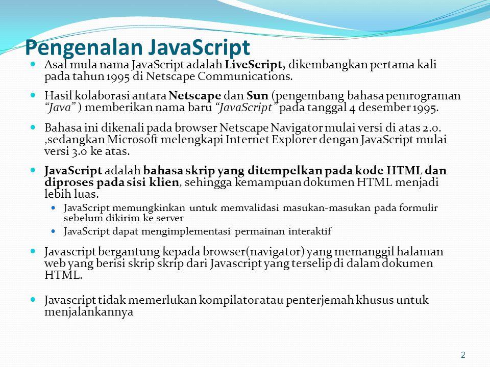 Pengenalan JavaScript