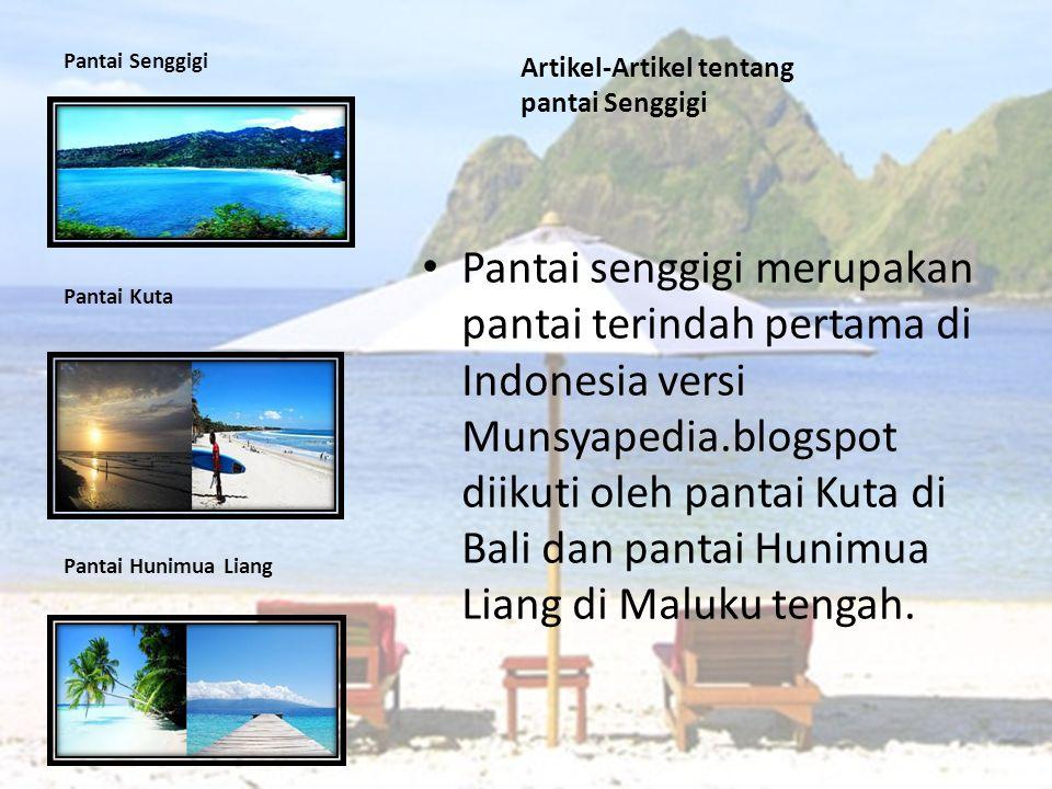 Artikel-Artikel tentang pantai Senggigi