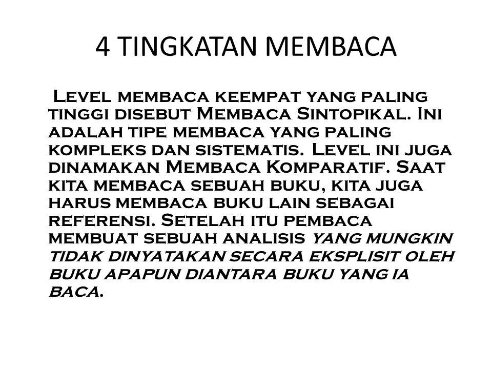 4 TINGKATAN MEMBACA