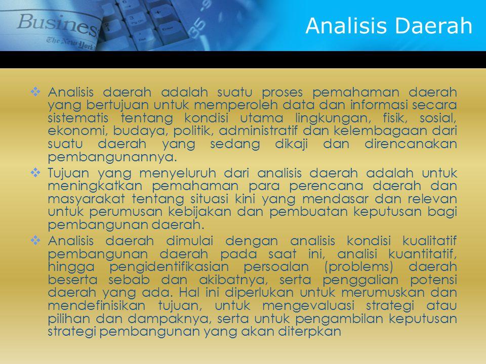 Analisis Daerah