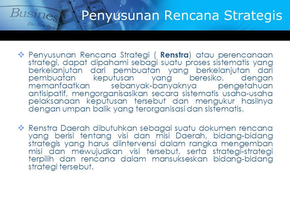 Penyusunan Rencana Strategis