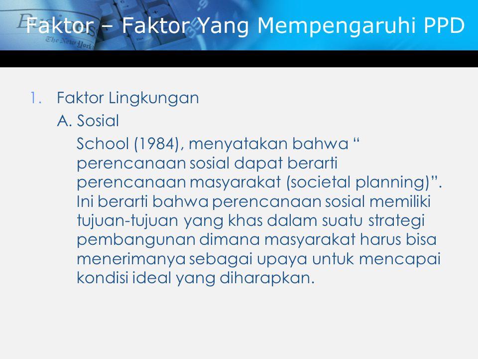 Faktor – Faktor Yang Mempengaruhi PPD
