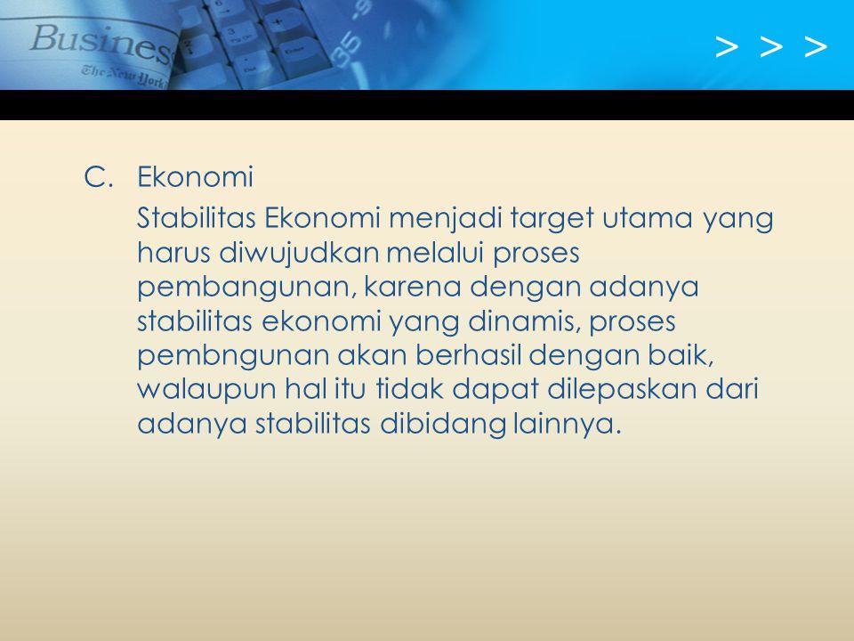> > > C. Ekonomi