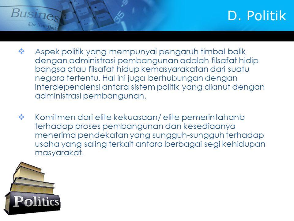 D. Politik