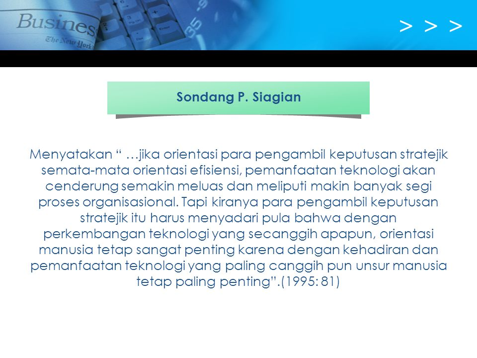 > > > Sondang P. Siagian