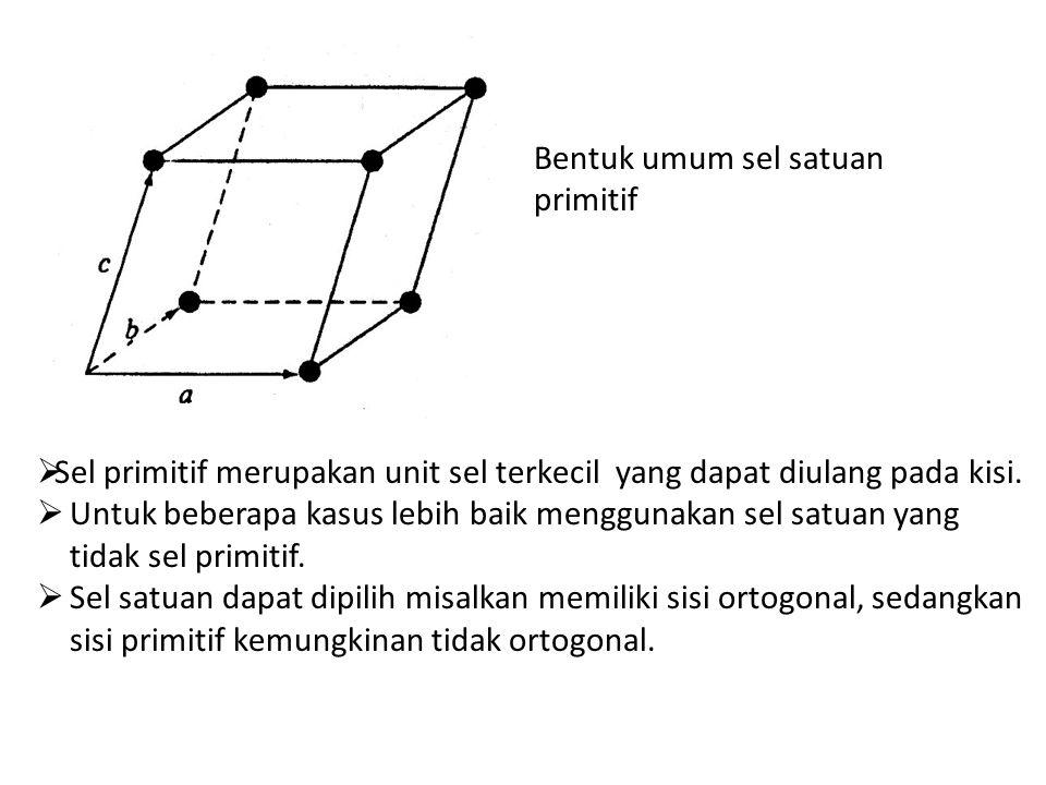 Bentuk umum sel satuan primitif