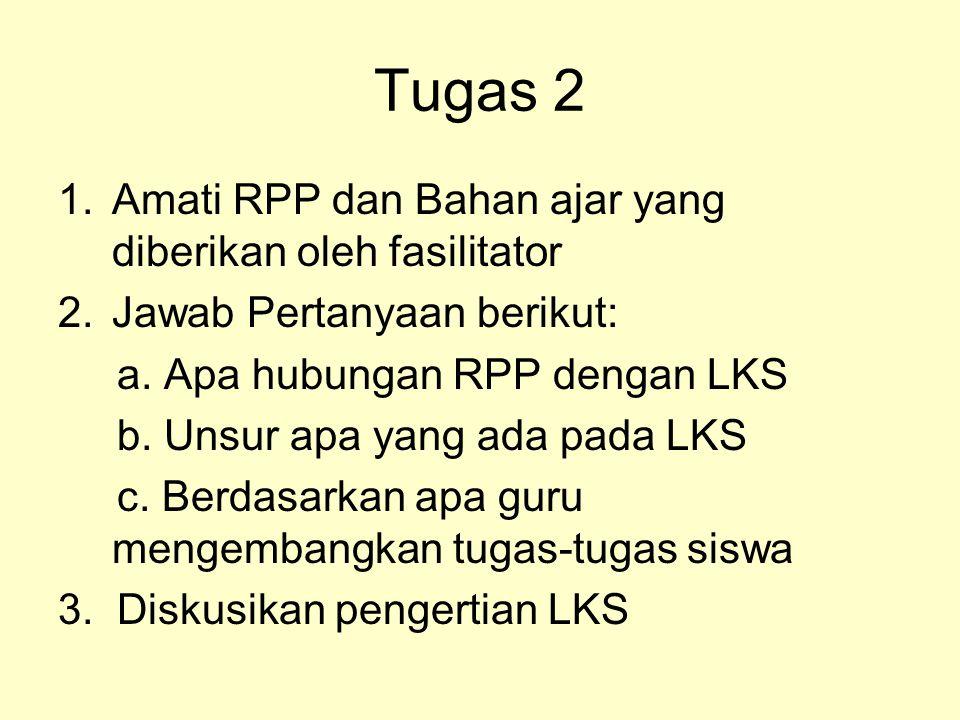 Tugas 2 Amati RPP dan Bahan ajar yang diberikan oleh fasilitator