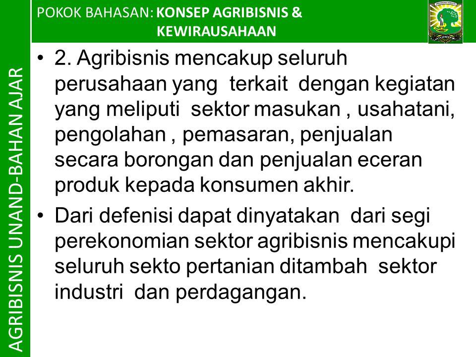 AGRIBISNIS UNAND-BAHAN AJAR