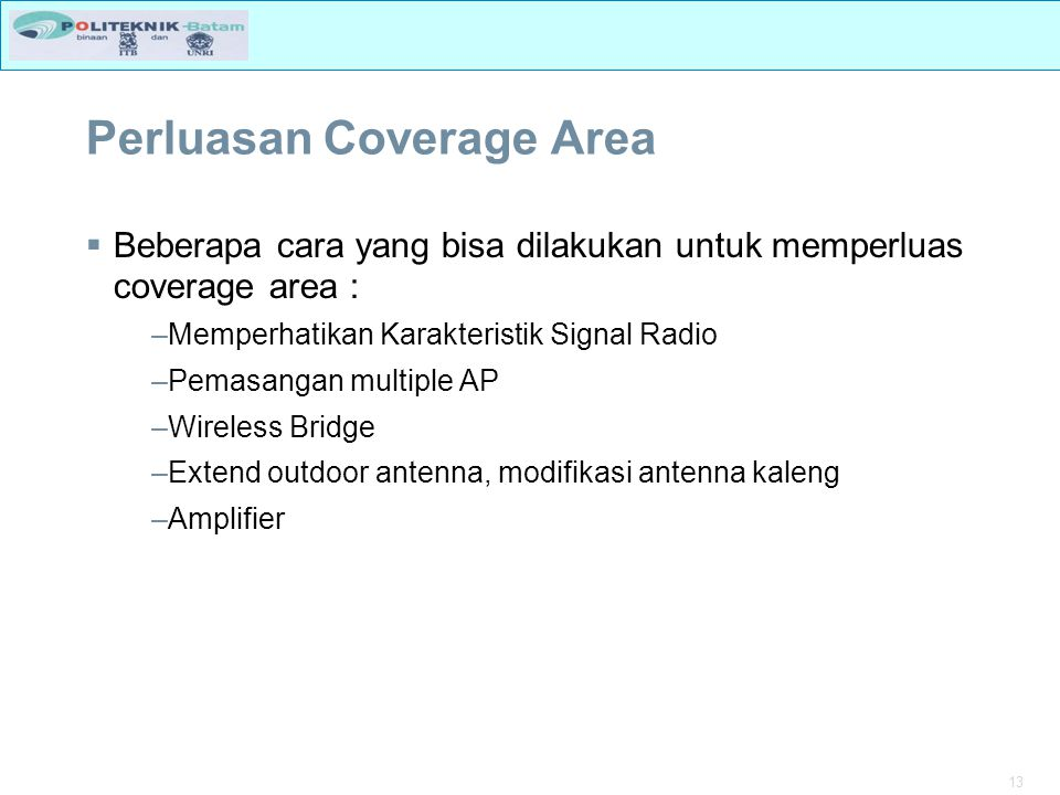 Perluasan Coverage Area