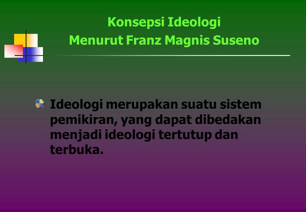 Menurut Franz Magnis Suseno