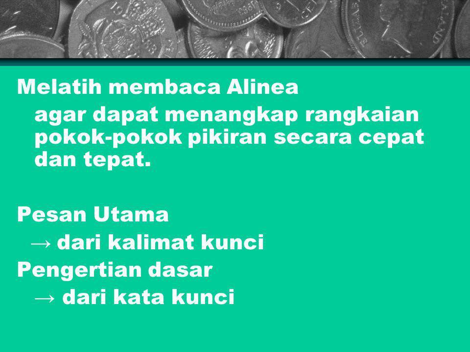 Melatih membaca Alinea