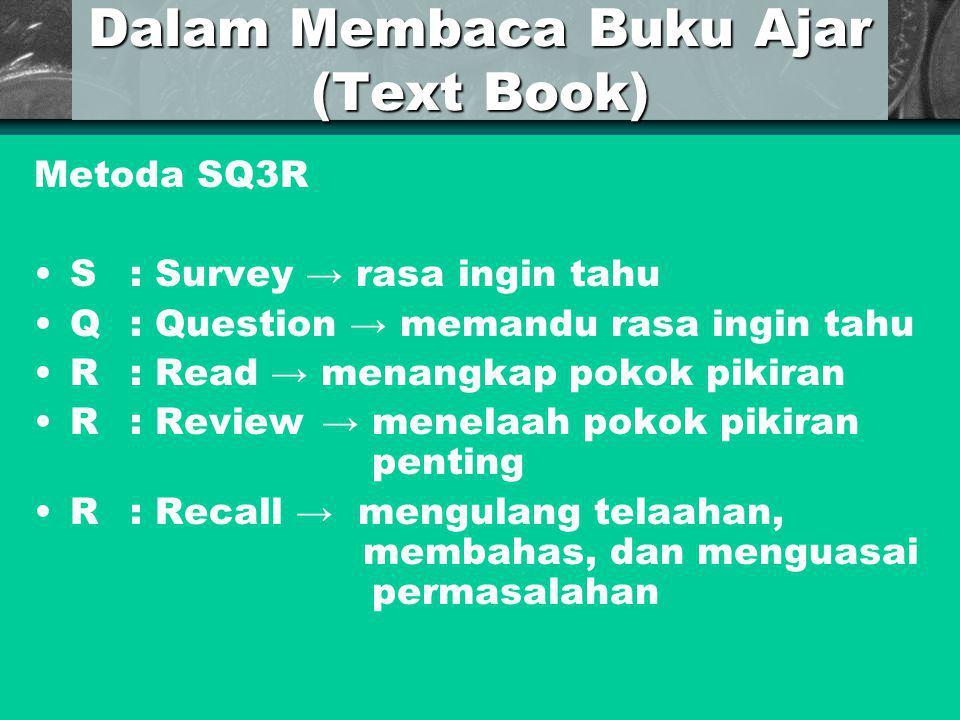 Dalam Membaca Buku Ajar (Text Book)