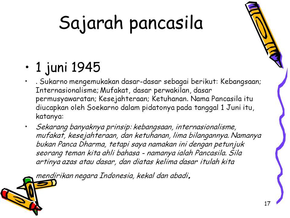Sajarah pancasila 1 juni 1945