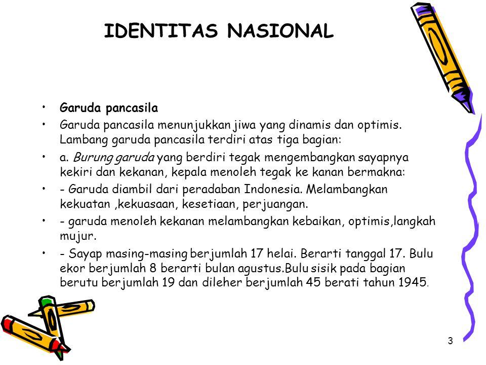 IDENTITAS NASIONAL Garuda pancasila