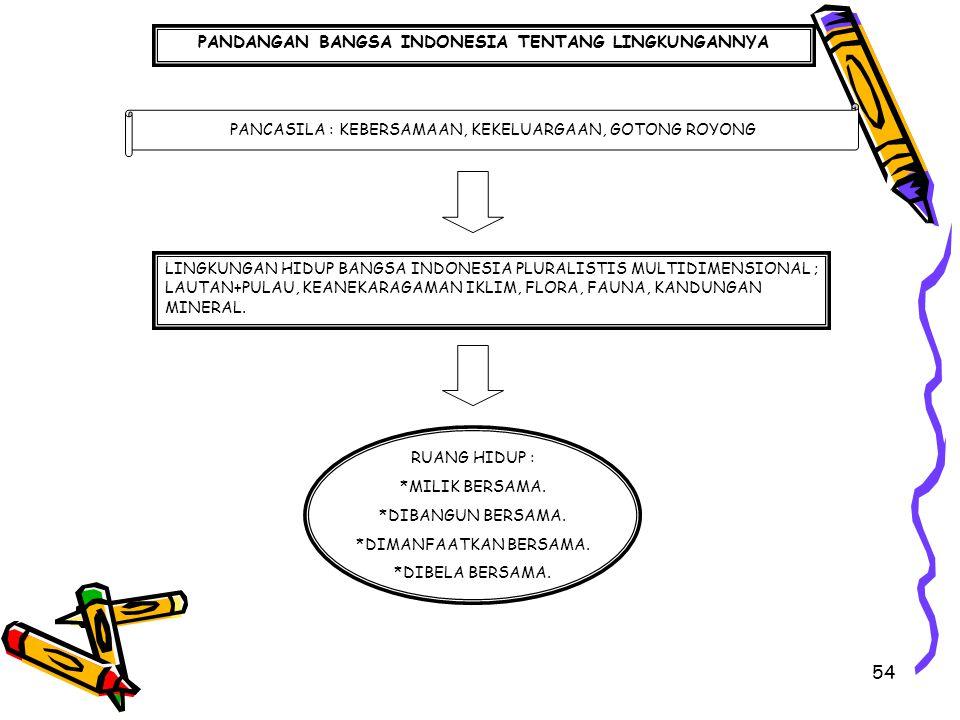 PANDANGAN BANGSA INDONESIA TENTANG LINGKUNGANNYA