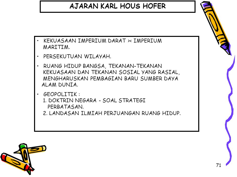 AJARAN KARL HOUS HOFER • KEKUASAAN IMPERIUM DARAT >< IMPERIUM