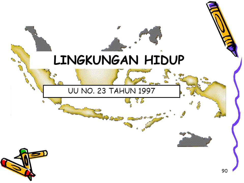 LINGKUNGAN HIDUP UU NO. 23 TAHUN 1997