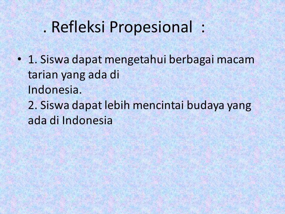 . Refleksi Propesional :