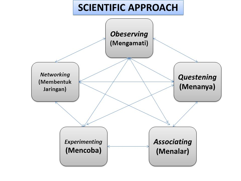 SCIENTIFIC APPROACH Obeserving Questening (Menanya) Associating
