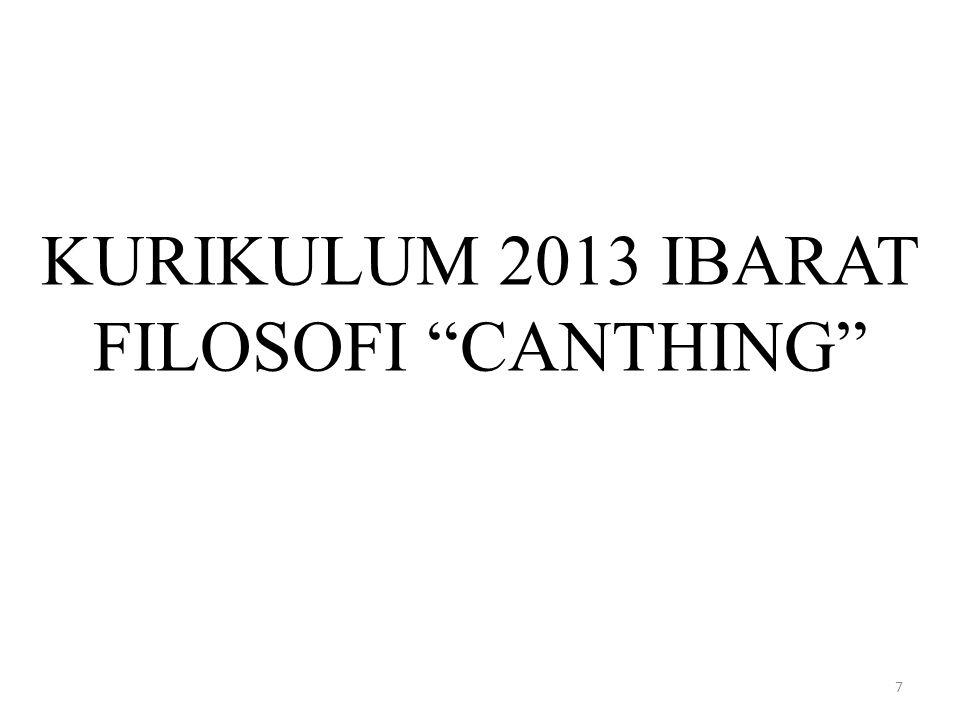 KURIKULUM 2013 IBARAT FILOSOFI CANTHING