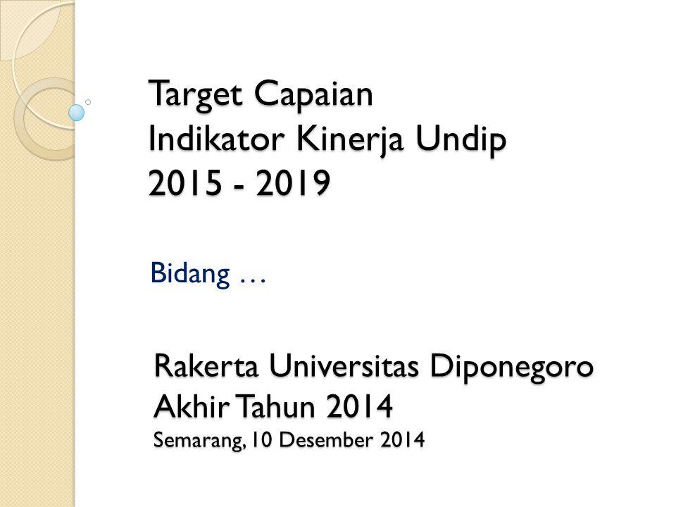 Target Capaian Indikator Kinerja Undip 2015 - 2019